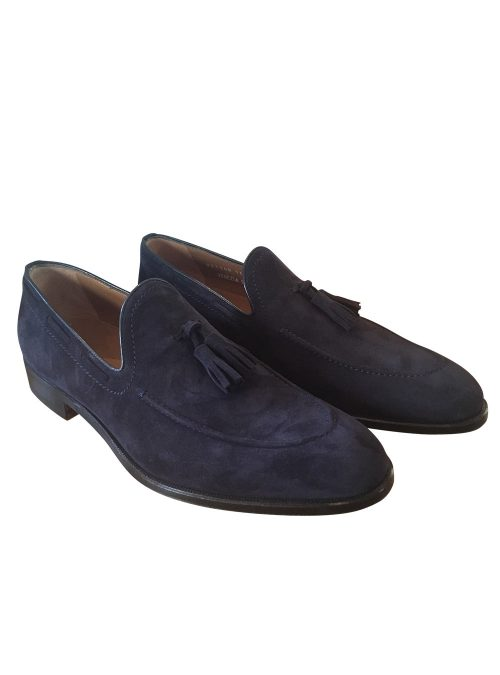 Stemar Navy Suede Shoes